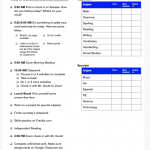 Sample Daily Checklist